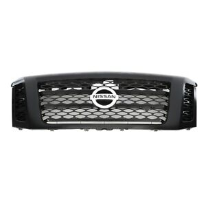 OEM 2017-2021 Nissan Titan XD Midnight Edition Grille Assembly 62310-EZ55D NEW
