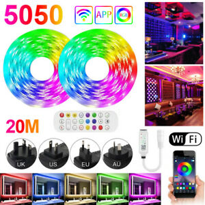 5050 LED String Light RGBW Color Changing Strip Smart Remote Control Music Sync