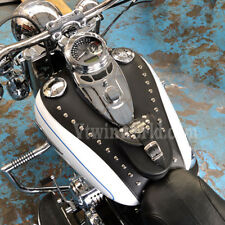 V) HARLEY DAVIDSON SOFTAIL HERITAGE DELUXE LEATHER TANK Pad Panel Chap Bib Cover