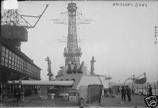 """US Navy USS Arizona Guns World War 1 6x4"""", Reprint Photo a"""