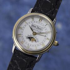 Blancpain Villeret Stahl / Gold Handaufzug Vollkalender Mond Damenuhr VP:13530,-