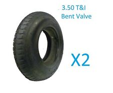 2 X WHEELBARROW WHEEL INNER TUBE AND BARROW TYRE 3.50 - 8 INNERTUBE BENT VALVE
