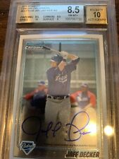 2010 Bowman Chrome Jaff Decker Auto Autograph Beckett 8.5
