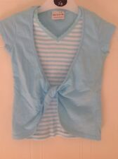 Cute NEXT Blue & White Striped Top - Age 3