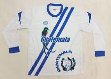Guatemala 2016 New Arza Soccer Jersey White Blue Long Sleeve