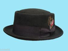 Chapeaux marrons pour homme en 100% laine