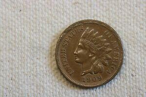 1909S Indian Head Cent AU ++