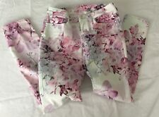 AEROPOSTALE-LOLA JEGGINS-Women's Size 0-COTTON-FLORAL PRINT PRE-OWNED-NICE
