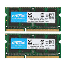 Crucial 2X 8GB PC3-12800 DDR3 1600MHz 2Rx8 Sodimm For MacBook Pro Memory RAM @BM