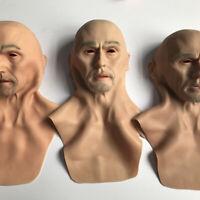 Halloween Headgear Charles Silicone Realistic Full Head Masquerade Male Props