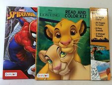 Set of Two Color and Activity Books- Spider-Man & The Lion King