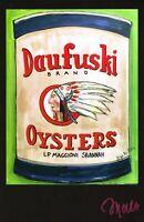 POSTER Vintage Daufuski Oyster Can Artist Signed SAVANNAH GEORGIA