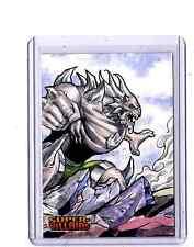 DC Super-Villains sketch card