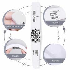 BORN PRETTY 100/180 Nail File Washable Grinding Sanding Polishing Manicure