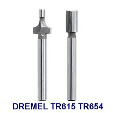 """NEW DREMEL TRIO ROUTER BITS TR615 ROUND OVER  AND TR654 1/4"""" STRAIGHT KIT TR670"""