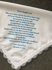 Daughter Wedding Handkerchief From Mother Of The Bride--1019