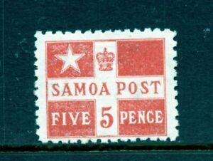 Samoa #23a (SA625) Flag Design, Perf 11, 5p vermilion, M, LH, FVF, CV$70.00