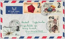 MAURITIUS -  POSTAL HISTORY -  COVER -  SHELLS crustaceans STAR FISH - 1973