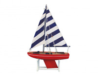 "Wooden It Floats American Captain Model Sailboat 12"" - Floating Model Sailboat -"
