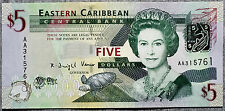 East Caribbean States 5 Dollars P-47 2008 Au-Unc.