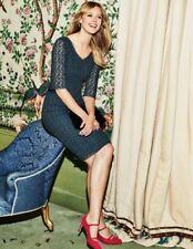 Boden Carin Lace Dress Green Size UK 12R rrp £160 LF081 DD 14