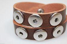 Markenlose Modeschmuck-Armbänder im Armreif-Stil aus Leder für Damen