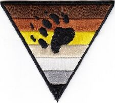Gay Bear Pride Triangle Iron On embroidered Patch