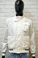 FAY Uomo Giacca Giubbino Taglia Size S Cappotto Giubbotto Jacket Bianco Nylon
