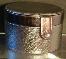 Swarovski Jewelry Box Silver/Platinum w/Removable Level Faux Leather NWOB