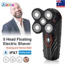 5 Head Floating Mens Electric Shaver Washable Beard Hair Trimmer Bald Razor