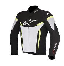 Alpinestars T-GP PLUS R V2 textil Aire Chaqueta Negro-Blanco-Amarillo/Mediano