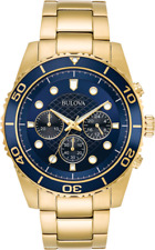 Bulova 98A172 Marine Star Gold Plated Quartz Men's Watch