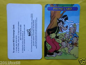 telefonkarten phonecards phone card mci tre 3 porcellini the three little pigs