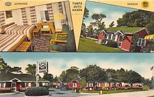 TAMPA FL TAMPA AUTO HAVEN MULTI PHOTO POSTCARD c1940s
