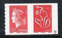 STAMP / TIMBRE FRANCE  N° P4109 ** EN PAIRE  MARIANNE DE CHEFFER / AUTOADHESIF