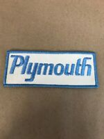 "Vtg Plymouth Embroidered Sew On Patch 5"" Dodge Mopar Auto Racing Badge Hot Rod"