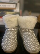 Ugg Boots Mymanph With Pearls  And Crystal Rare