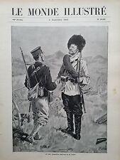 """LE MONDE ILLUSTRE 1905 N 2528 - """" LA PAIX """" COMPOSITION ALLEGORIQUE DE M.LANDINI"""