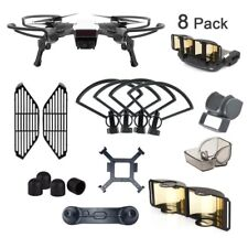 DJI Spark Accessories 8 Pack Bundle Combo - Propeller Guard Landing Gear Hood +