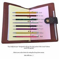 Agenda Pen fits Louis Vuitton Small PM LV Planner Diary + Refill Insert Paper