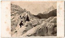 Cdv.Vallée de Chamonix.Détail au Glacier des Bois.Photo Albuminée A.Braun.1870.