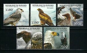 Burundi 2012 Sc#1199a-d,#1224  Birds of Prey-Raptors  MNH Set $20.80