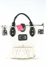 GUESS Shopper weiß Steppmuster Business-Look Damen weiß Tasche Bag