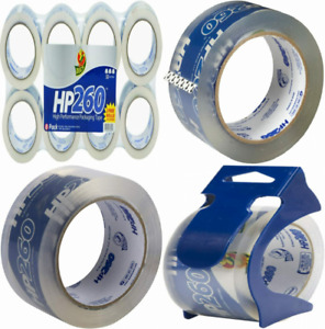 Duck HP260 Packing Tape Refill, 8 Rolls, 1.88 Inch x 60 Yard, 8-Pack, Clear