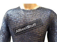 Long Chain Mail Hauberk Wedge Riveted Maille Chest 44