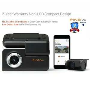 FineVu GX30 WiFi Dashcam 64GB - 64GB, FHD Dual, Non-LCD, Speed Alert