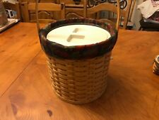 Longaberger Ice Bucket Great Condition with liner