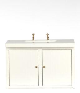 Dolls House  Furniture   White Kitchen Sink