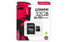 MICRO SD KINGSTON 32GB CLASSE 10 CON ADATTATORE MEMORIA TRANS FLASH SDCS/32