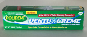 Polident Dentu Creme 3.9 oz  tubes Triple Mint Freshness -Pack Of 2 Tubes. NIB!